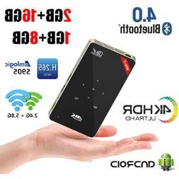 H96-P Mini DLP Projector S905X Android 4K BT Dual WiFi 8/16G