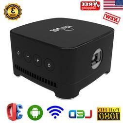 Atomicx P100B Wireless WiFi Mini Smart Projector LED Android