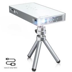 FLOUREON P8S Mini Pico Portable DLP Projector HDMI USB 1080P