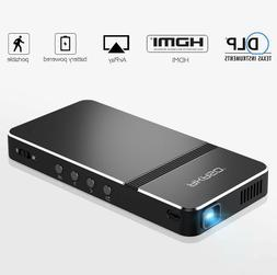 Pico Projector AKASO Mini Portable 1080P HD DLP LED 50 ANSI