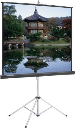 84X84 Picture King Tripod Portable Screen Matte White