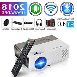 Pocket Bluetooth WiFi Wireless Mini Projector with HDMI Buil