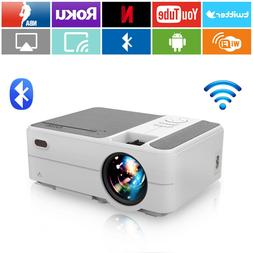 Portable HD Mini Projector Wifi Android 6.0 Blue-tooth Netfl