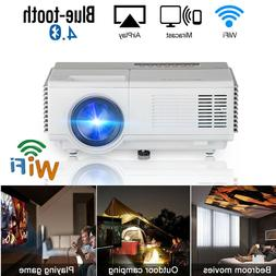 CAIWEI Portable Android 7.1 Projector Home Theater Blue-toot