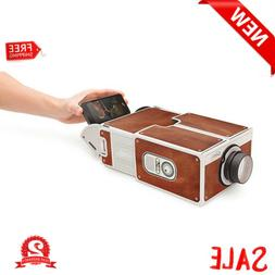 Portable DIY Cardboard Smart Phone Projector Cinema Mini Pro