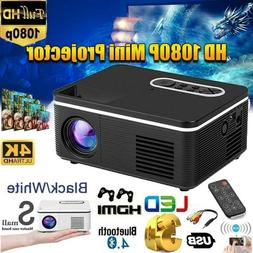 Portable HD 1080P Mini Video Projector LED Home Theater Proj