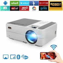 Portable HD Mini LED Projector Wifi Android 6.0 Blue-tooth N
