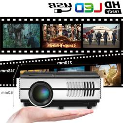 Portable LED Home Theater Mini Projector 1080p Backyard Movi