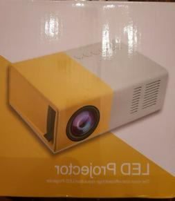 Portable LED Mini Projector - DeepLee DP300 - Yellow and Whi