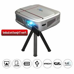 1080P HD Mini DLP 3D Projector WiFi Airplay Home Theater Mov