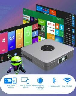 Portable Mini 7000Lumens Android Wifi Projector 4K HD Home C