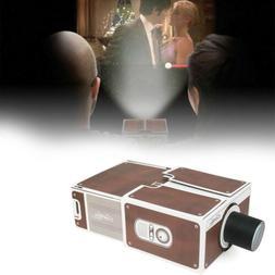 Portable Mini DIY Cardboard Movie Projector Cinema Toy For A