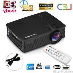 Portable Mini LED 1080p HD 3D Projector Home Cinema Theater