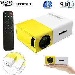 YG300 Mini Portable Multimedia LED Projector HD 1080P Home T