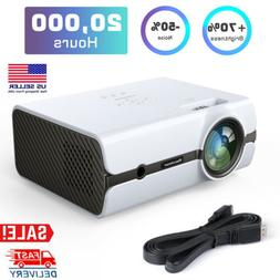 Portable Mini LED Projector 5000 Lumens Home Cinema Theater