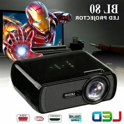 3D Projector 1080P FHD LED LCD Multimedia Smart Home Theater