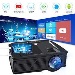 Neefeaer WiFi Wireless Projector, Mini Video Projector LCD P