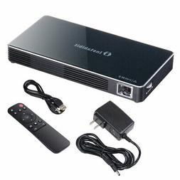 Portable Mini Projector DLP 3D HD 1080P 8G HDMI USB WIFI Blu