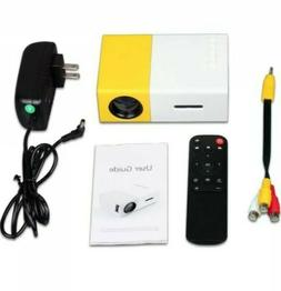 Portable mini projector LED micro projector home party meeti