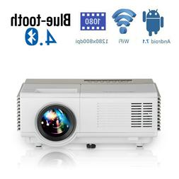 Portable Mini Smart LCD Video HDMI PROJECTOR Android6.0 Blue
