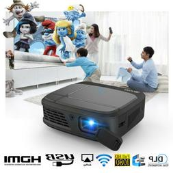 Portable Mini WiFi 3D DLP Projector Home Theater HD Movies C