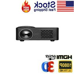 portable multimedia led projector 1080p mini home