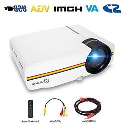Portable Projector, ULBRE MultiMedia Home Cinema 1080P 1200