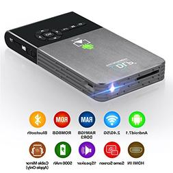 CANGSIKI LED Portable Smart Mini Projector, Outdoor/Indoor H