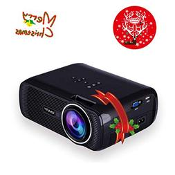 TOPRUI 2018 Mini LED Movie Video Projector, +30% Brighter Lu