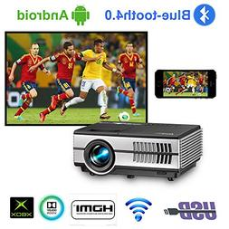 Portable Smart LCD Video Projectors with Wifi Bluetooth HDMI
