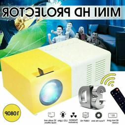 Portable YG300 Mini Projector 3D HD LED Home Theater Cinema