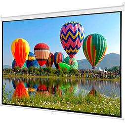 """100"""" Projector Screen 16:9 Projection HD Manual Pull Down Ho"""