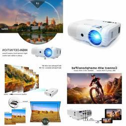 Projector PoFun  +50% Lumens Mini Portable Projector LED Ful