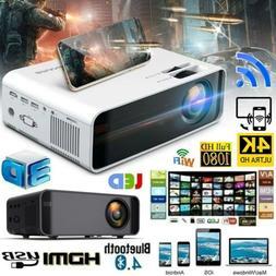 Projector 23000 Lumens 1080P 3D LED 4K Mini WiFi Video Home