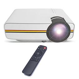 Camecho Mini Portable Projector LED Video Home Theater 1080P