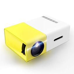 Projector, LoongSon Mini Portable LED Projector, Smartphone