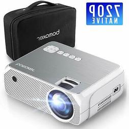 Projector 720P Native Resolution Mini Projector with 1080P S