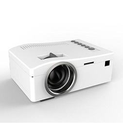 HD Projector,Putars Poratable Mini 1080P HD LED Projector Mu