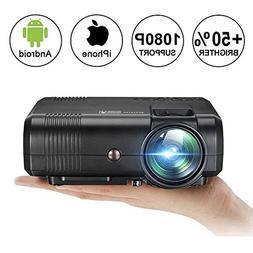 Movie Projector,Weton Upgraded Mini Projector 2200 Lumen  Pr