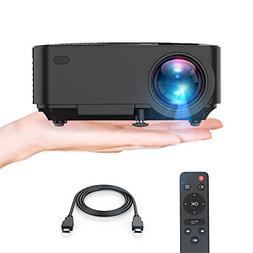 Projector, Upgraded TENKER Projector, 60% Brighter, Mini Hom