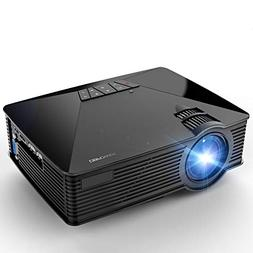 Projector, 2018 Upgraded DBPOWER Mini Projector, 50% Lumens