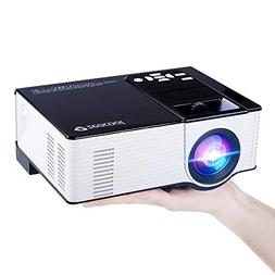 Zeacool Video Projector, Newest Upgrade 2200 Lumens LED Port