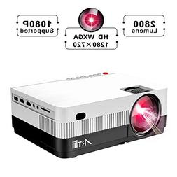 HD Projector, Artlii Portable Movie Projector Full HD 1080P