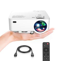 Projector, TENKER Upgrade +30% Lumens Mini Projector Home Th