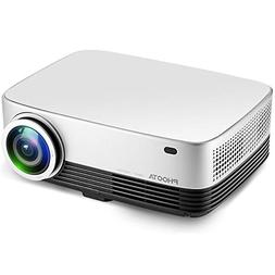 Projector, PHOOTA 3600 Lumens Portable Video Projector 1280x