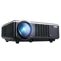 Projector, WiMiUS T7 Upgraded 3200 Lumens Mini Projector, Po