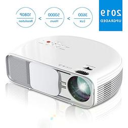 Projector, iBosi Cheng Video Projector, 2019 Newest Native 7