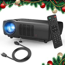 Projector, TENKER Upgrade +33% Lumens Portable Video Project