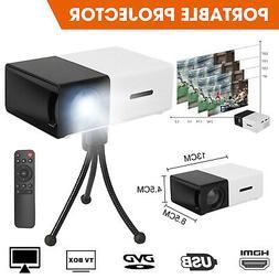 Projector Mini HDMI AV USB Portable LED HD 1080P Video Home