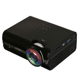 DSstyles HD Projector 1080P LED Mini Projector 1600 Lumens P